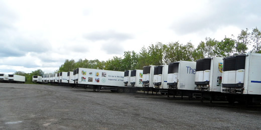 View of trailer parking site